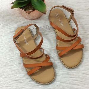 Cat & Jack Girls Sz 11 Brown Sandals